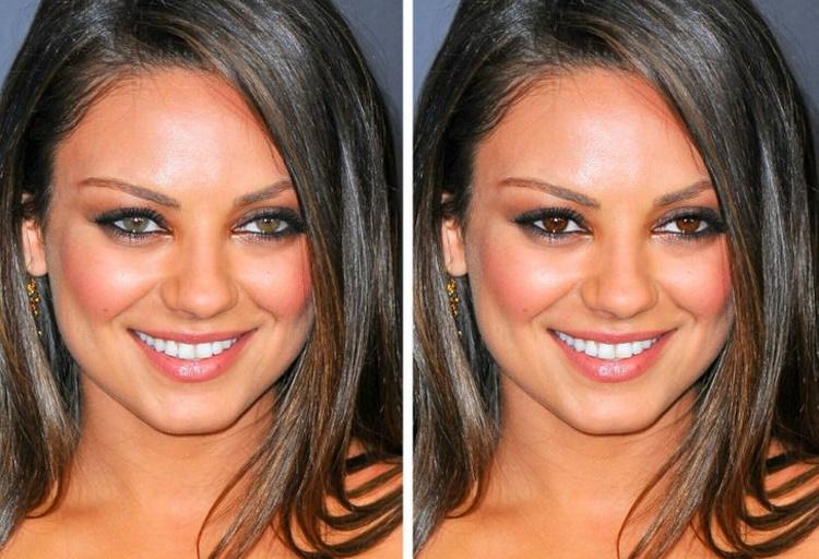 30 занимательных фото знаменитостей с другим цветом глаз